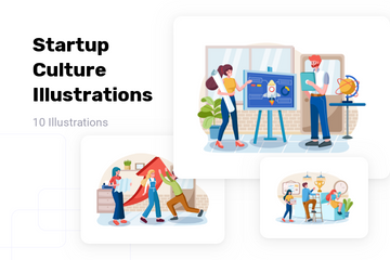 Startup Culture Illustration Pack