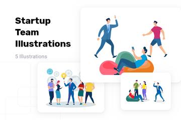 Startup Team Illustration Pack