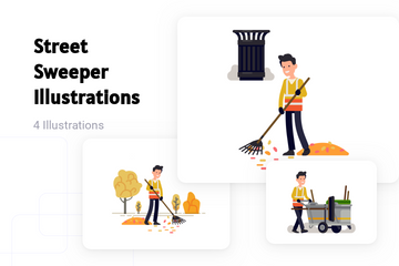 Street Sweeper Illustration Pack