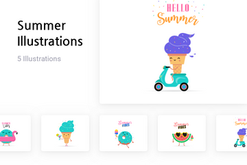 Summer Illustration Pack