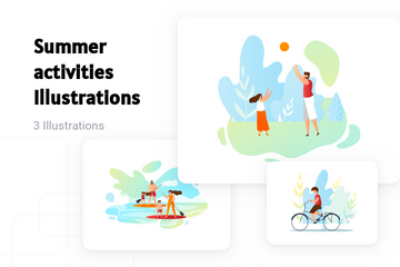 Summer Activities Illustration Pack