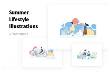 Summer Lifestyle Illustration Pack