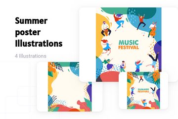 Summer Poster Illustration Pack