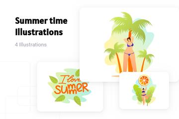 Summer Time Illustration Pack