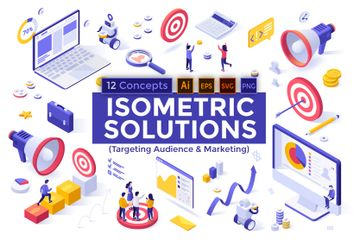 Targeting Audience & Marketing Illustration Pack