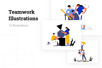 Teamwork Illustration Pack