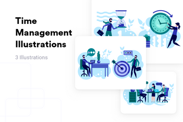 Time Management Illustration Pack