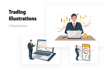 Trading Illustration Pack