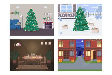 Traditional Holiday Illustration Pack