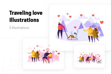 Traveling Love Illustration Pack