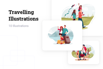 Travelling Illustration Pack