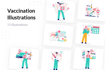 Vaccination Illustration Pack