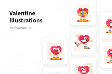 Valentine Illustration Pack