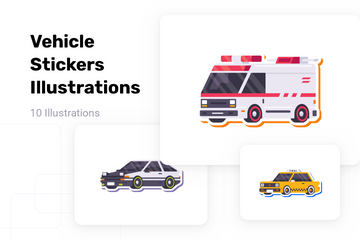 Vehicle Stickers Illustration Pack