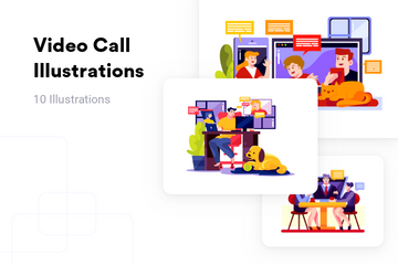 Video Call Illustration Pack
