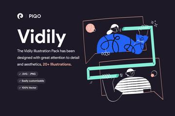 Vidily - Colorful Illustration Pack