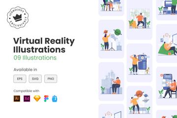 Virtual Reality Illustration Pack