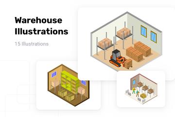 Warehouse Illustration Pack