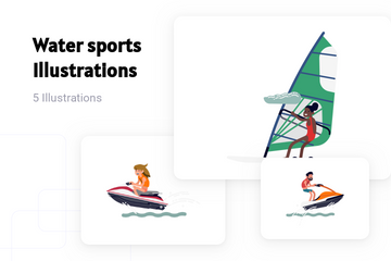 Water Sports Illustration Pack