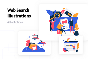 Web Search Illustration Pack