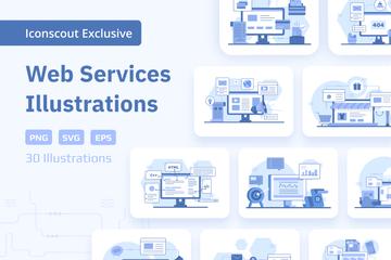 Web Services Illustration Pack