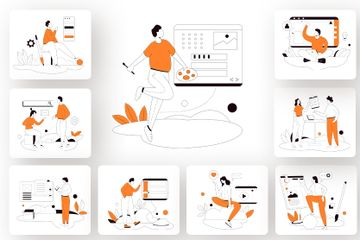 Website Builder Illustration Pack