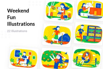 Weekend Fun Illustration Pack