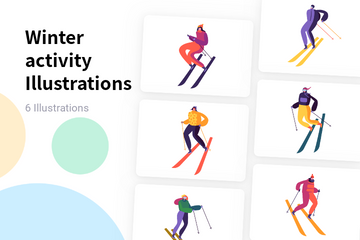 Winter Activity Illustration Pack