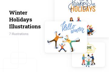 Winter Holidays Illustration Pack