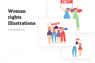 Woman Rights Illustration Pack