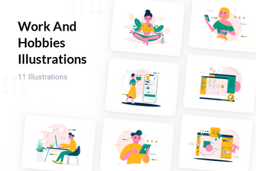 Work And Hobbies Illustration Pack