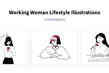 Working Woman Lifestyle Illustration Pack