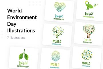 World Environment Day Illustration Pack