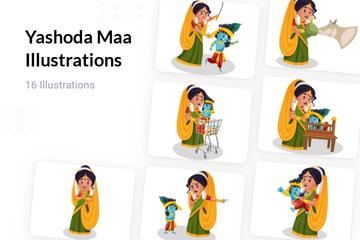 Yashoda Maa Illustration Pack