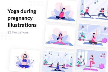 Yoga During Pregnancy Illustration Pack