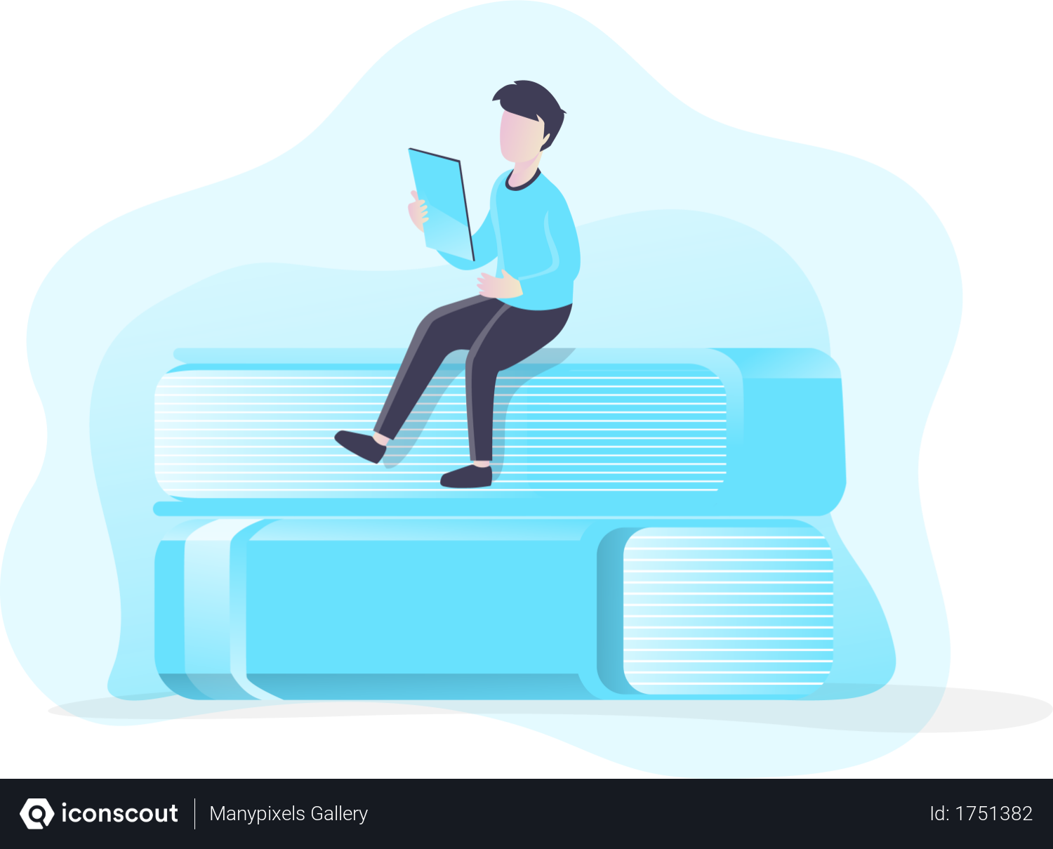 Download Free Book Lovers Illustration download in PNG & Vector format