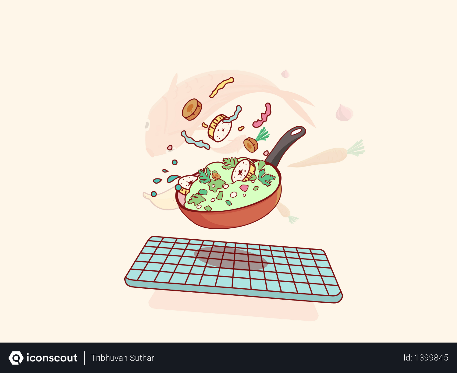 Cooking food Illustration