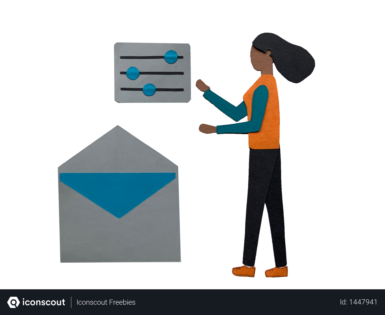 Email settings Illustration
