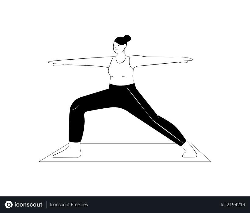 Girl doing yoga Illustration