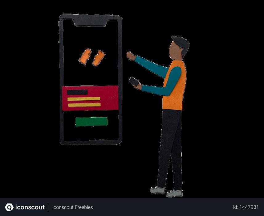 Online shopping app Illustration
