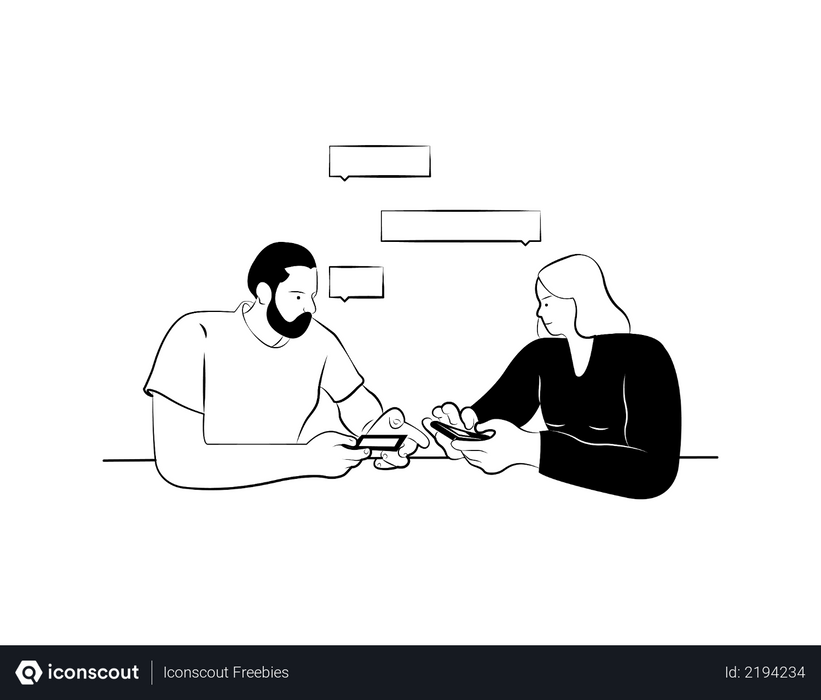 People discussing about online payment Illustration