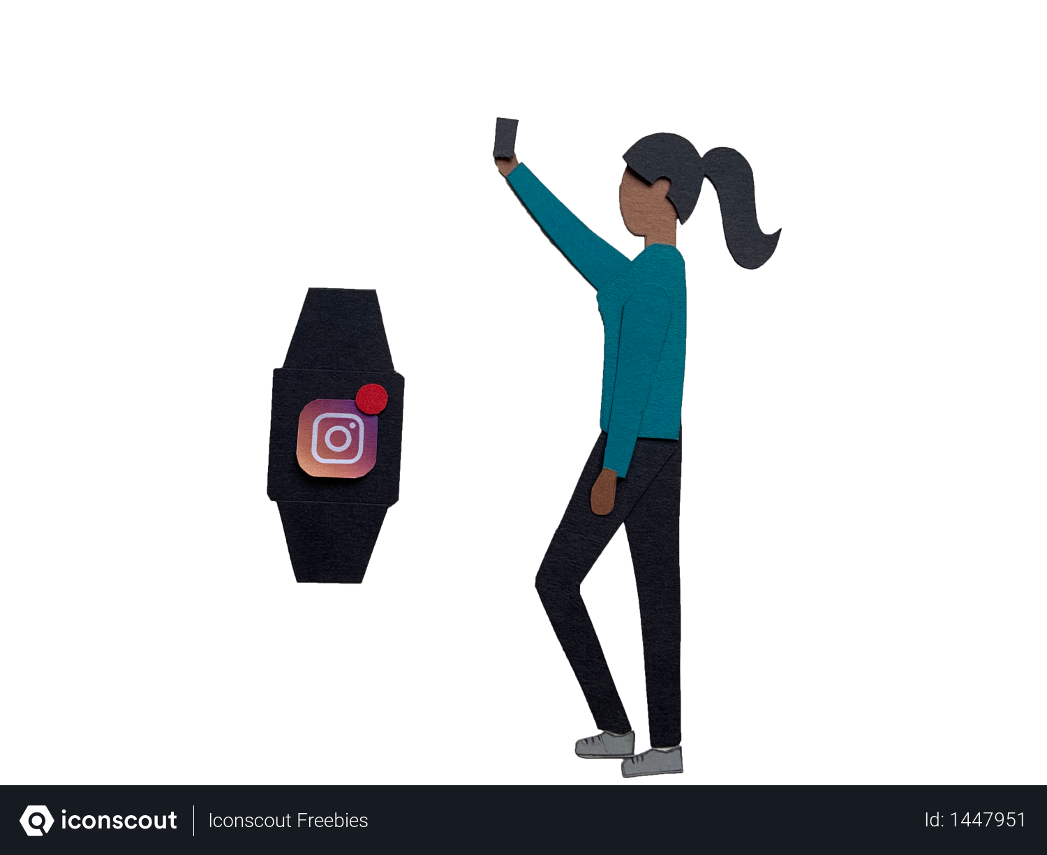 Smart watch sync with mobile Illustration