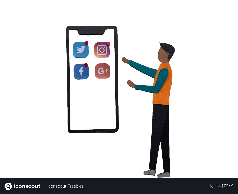Social media notifications Illustration