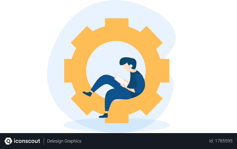 Free Student Time Management Illustration Download In Png Vector Format