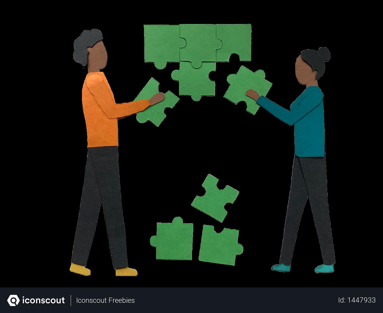 Team solving problems Illustration