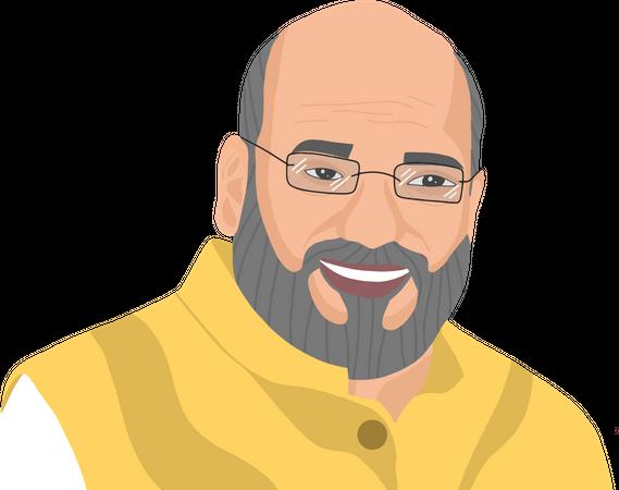 Amit Shah Illustration