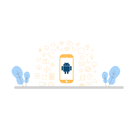 Android device Illustration
