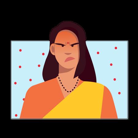 Angry female Illustration