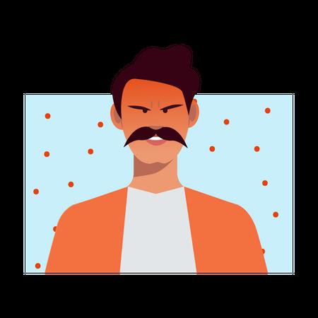Angry man Illustration