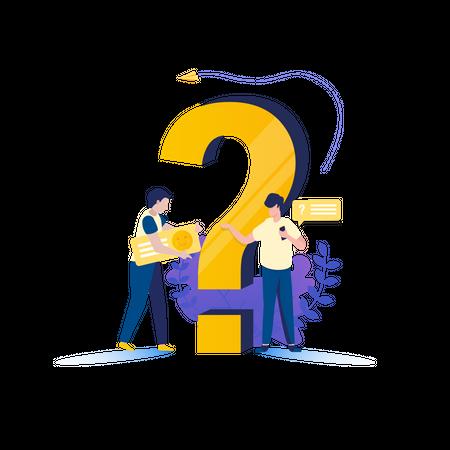 Ask Customer Feedback Illustration